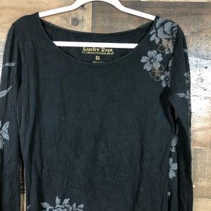 Lucky Brand Tops - Lucky brand tiger embroidered shirt